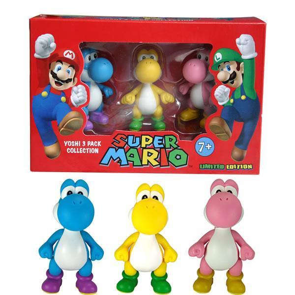 Super Mario trio Yoshi color mini figure edizione limitata originale ufficiale Nintendo nuovo box