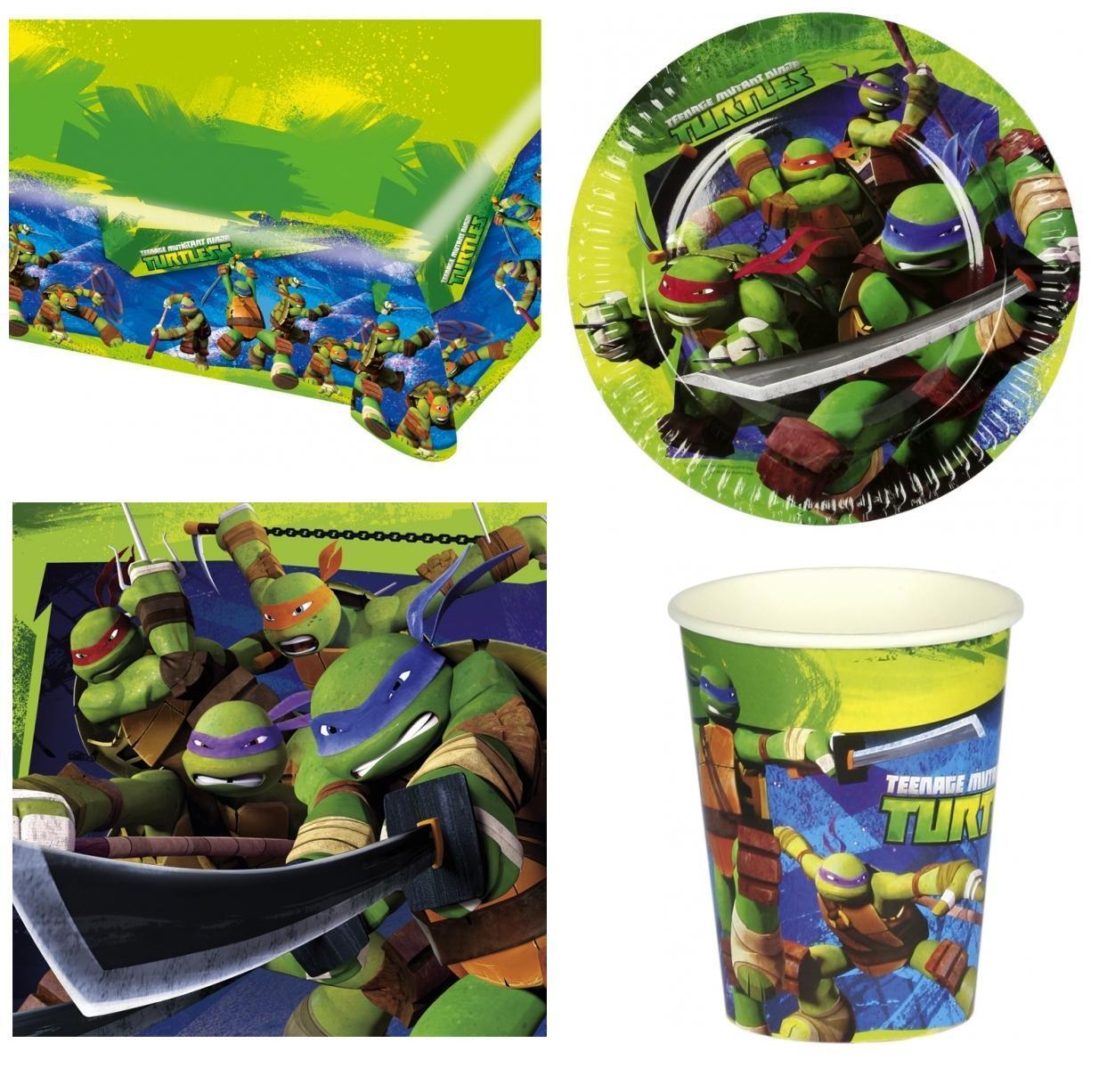 Tartarughe Ninja set party piatti bicchieri tovaglia tovaglioli festa party