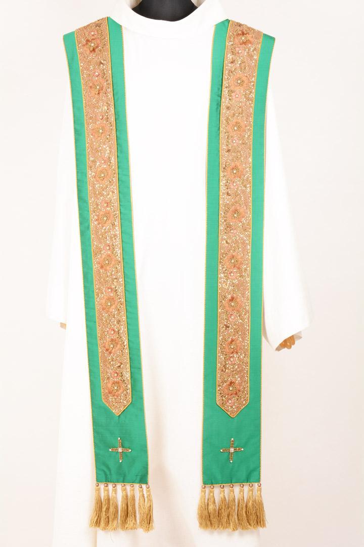 Stola SBR702 M2 Verde Bordo Ricamato
