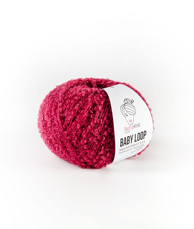 Sales - Wool - BABY LOOP - White and Pink Shades - 1