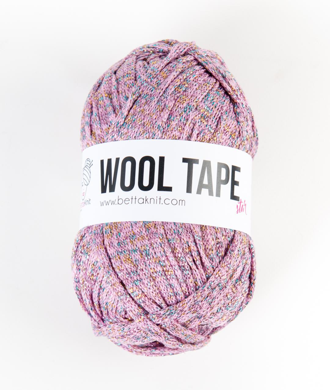 Sales -  - Wool Tape Star - White and Pink Shades - 1