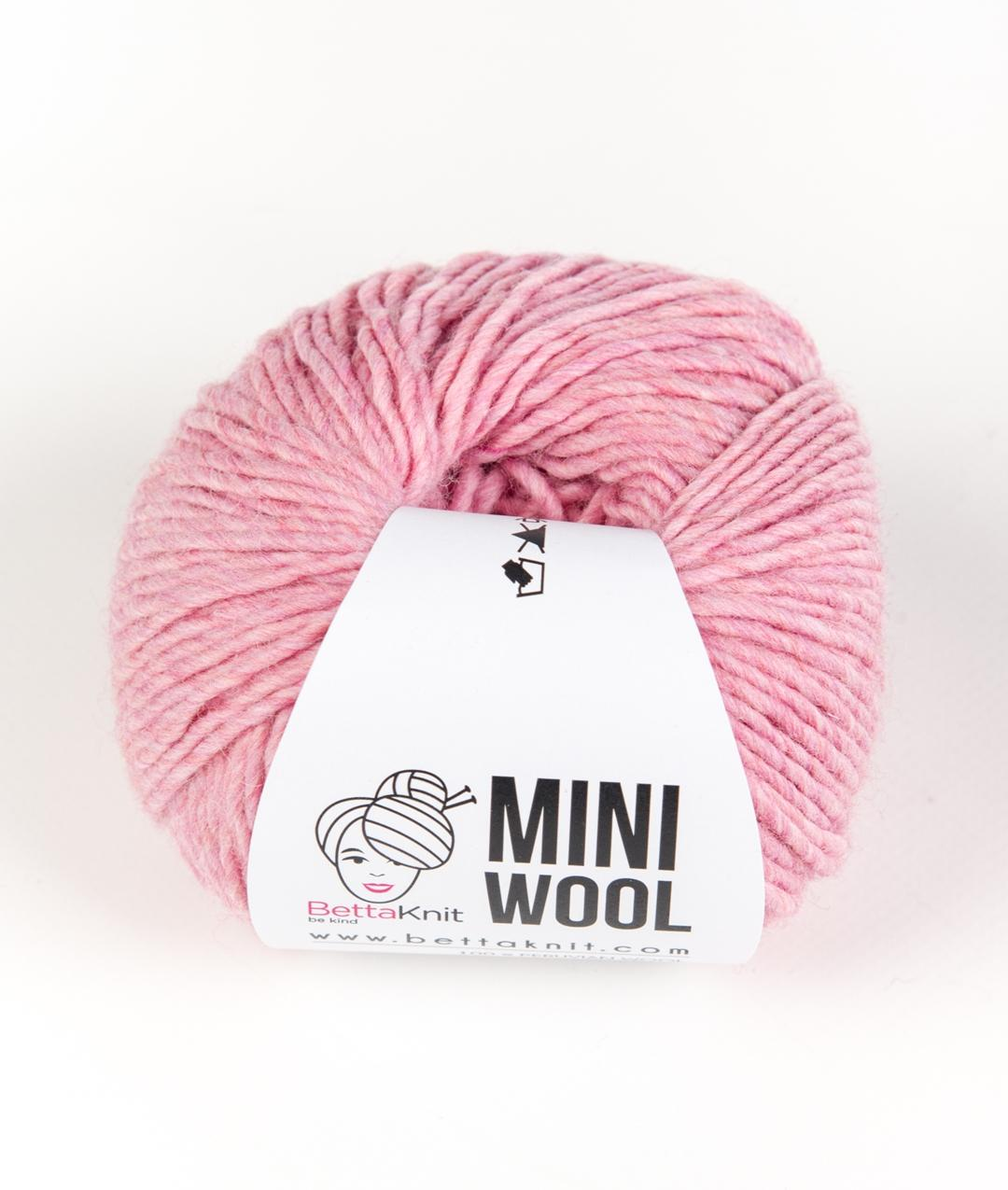 Sales - Wool - Mini Wool - White and Pink Shades - 1