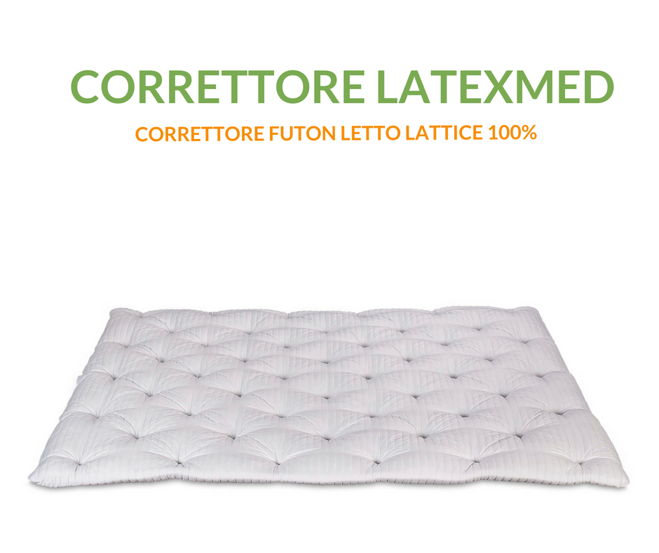 Correcteur Matelas en Latex simple haut 7 cm, Topper Futon avec rembourrage flocon 100% latex effet plume d'oie souple, orthopédique, hypoallergénique, indéformable, Latexmed