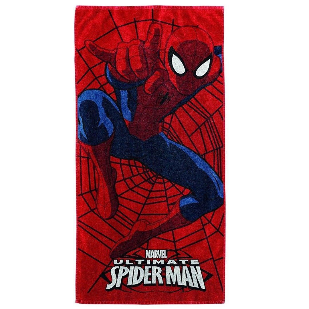 Spiderman BASSETTI Telo mare spugna 75x150 Puro Cotone Uomo ragno