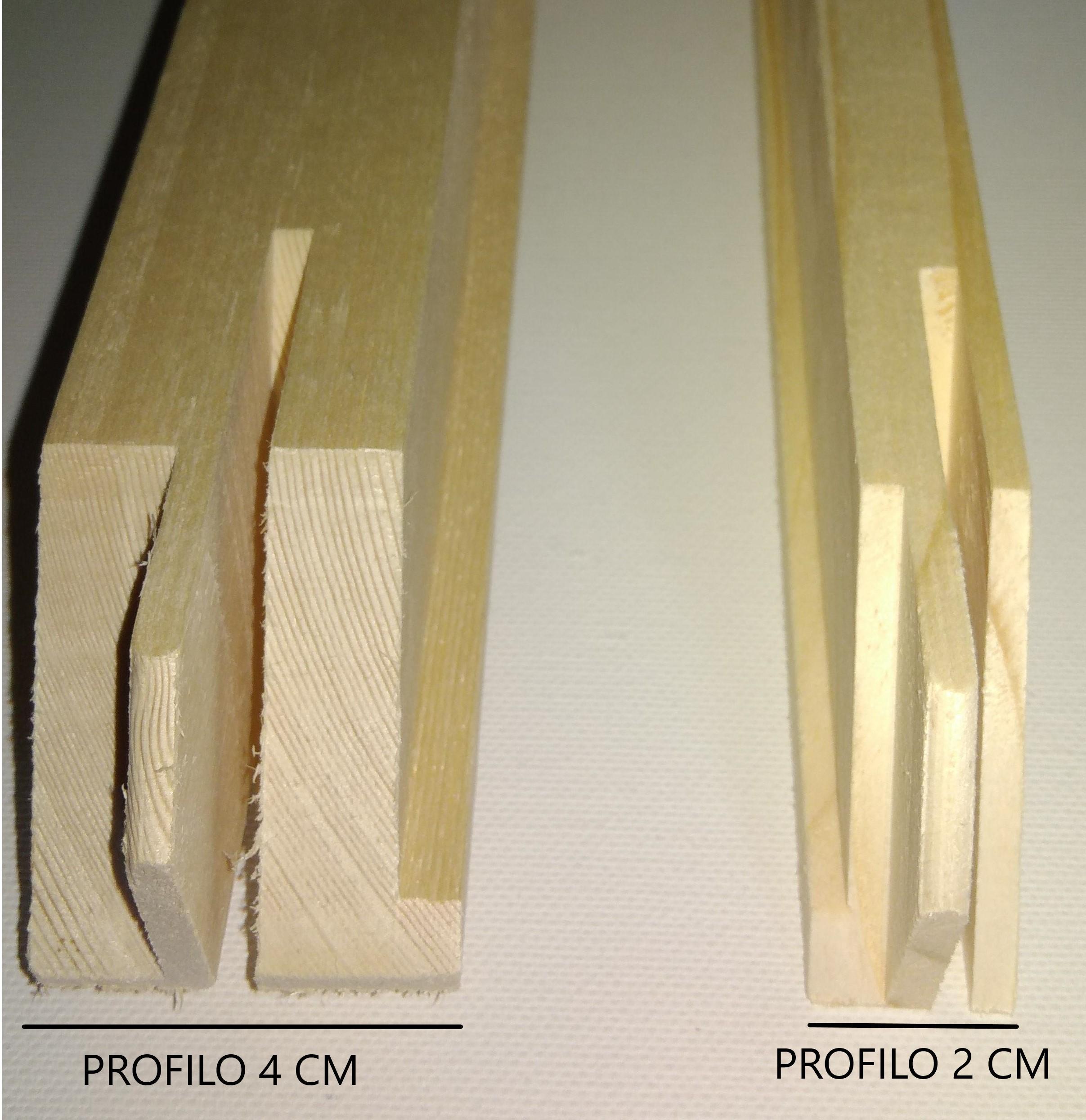 Listelli per Telai 40 x 55 mm - Listelli in legno - Listelli con angoli ad incastro 45 gradi