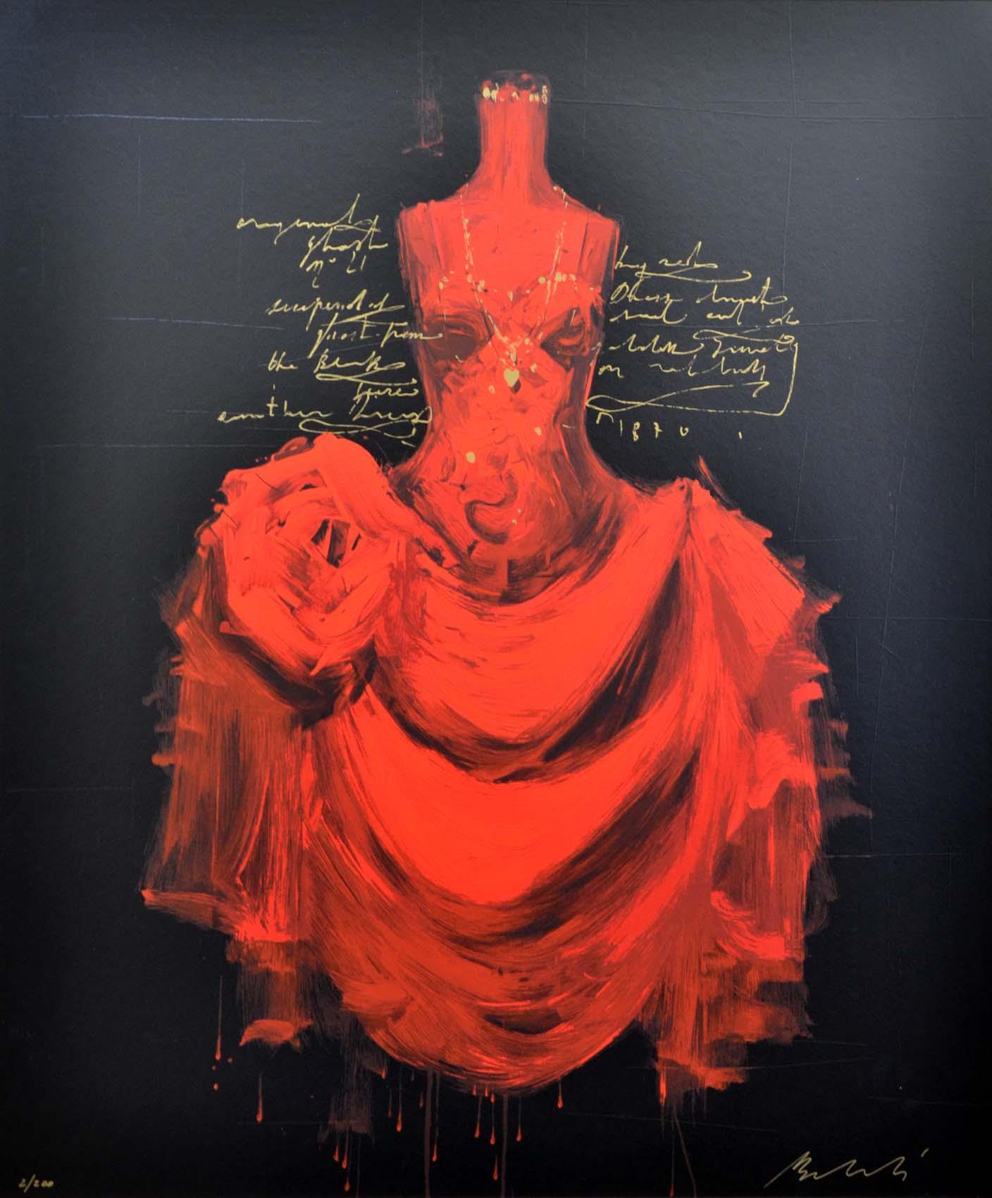 Bellandi Luca, Barocco 21, Serigrafia polimaterica, Formato cm 92x111