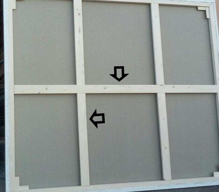 Traverse per Telai 40 x 45 mm - Traverse in legno - Traverse per quadri