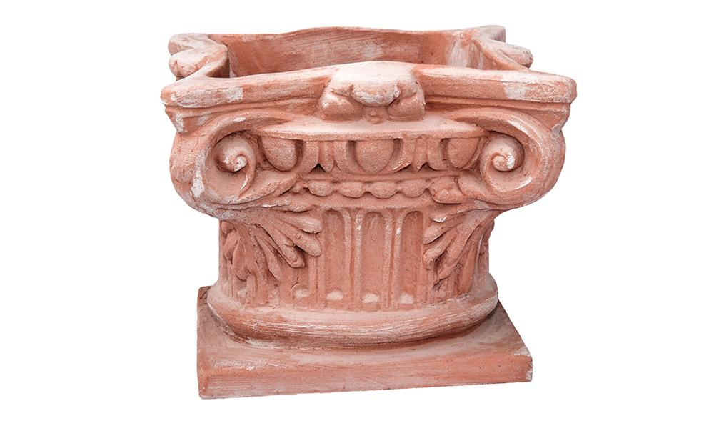 Capitello per Colonna in Terracotta