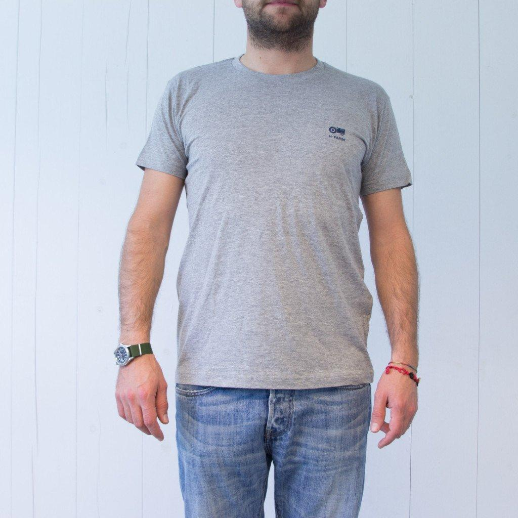 T-SHIRT basic logo blue - Big Shoes and Beautiful Mind