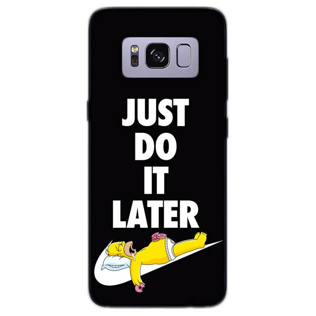 new arrival bb33a be59f JUST DO IT LATER cover per Samsung Galaxy vari modelli