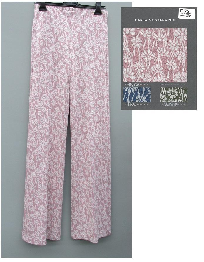Pantalone con elastico in vita e zip fianco