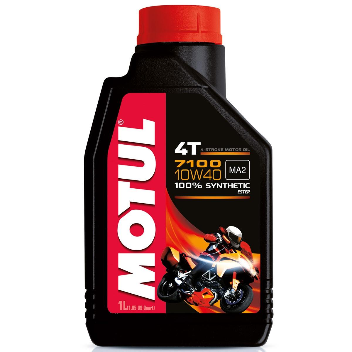 OLIO MOTORE MOTUL 7100 per MOTO e SCOOTER 4 TEMPI 100% SINTETICO  SAE 10W40