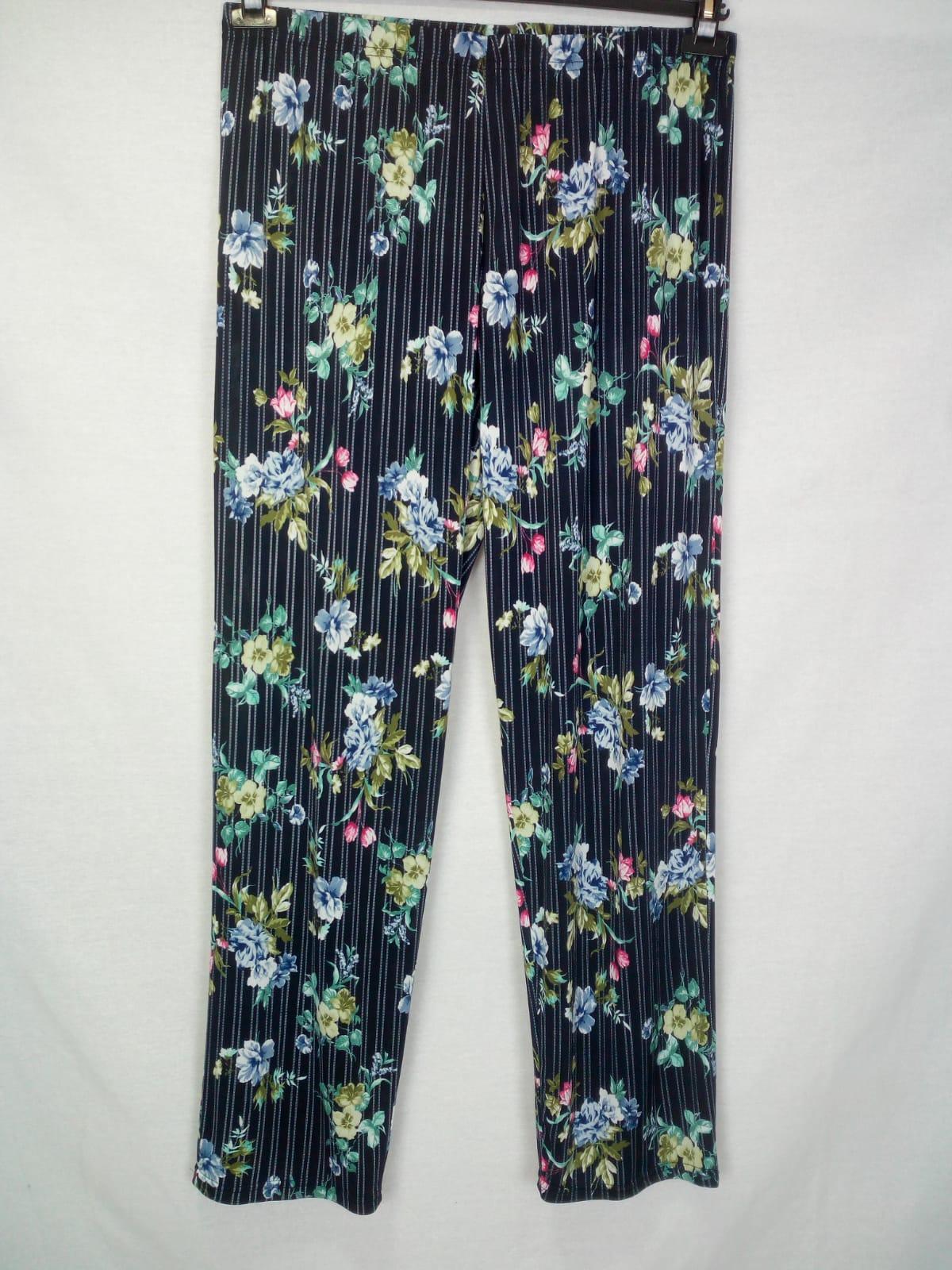 Pantaloni donna fantasia calibrati