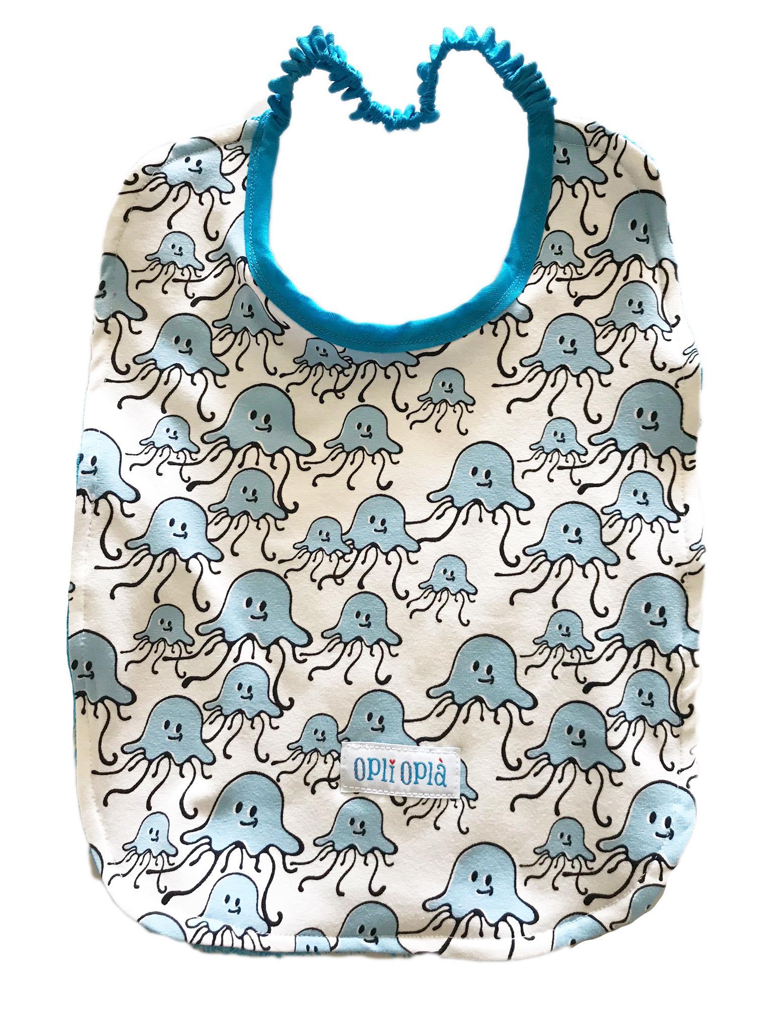 Medusa azzurra - bavaglino per la materna