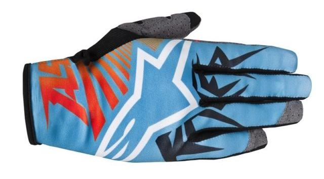 GUANTI MOTO CROSS ALPINESTARS RACER BRAAP 2015 BLUE ORANGE RED