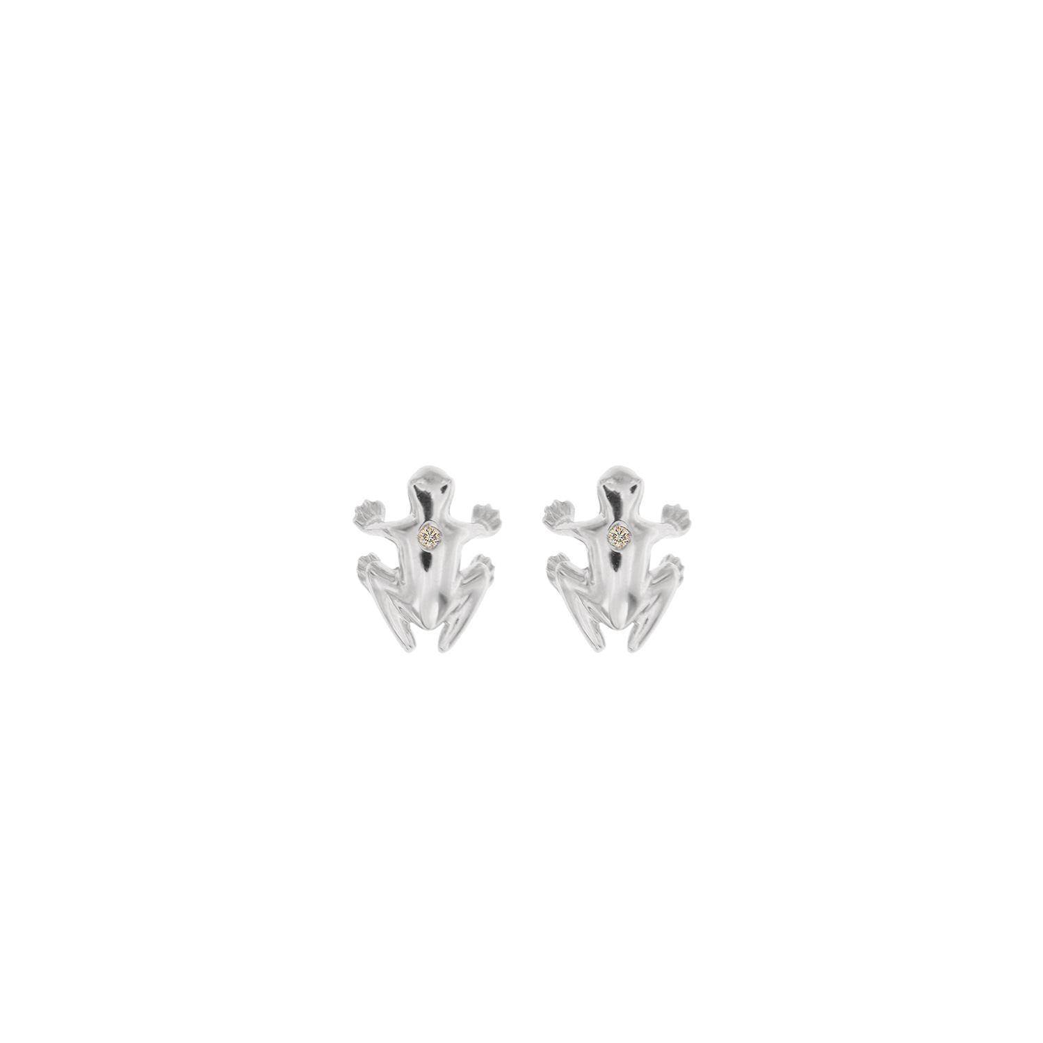 Earrings in 925 silver and diamond