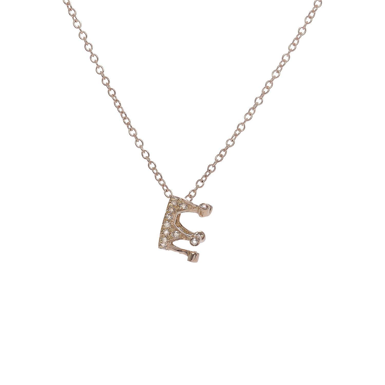 Collana in oro 18k e pavè di diamanti