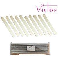 Wictor - Lima bianca dritta - Grana 80/80 - Confezione da 10 pezzi