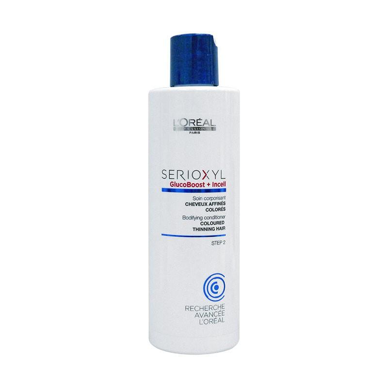 L'oreal Serioxyl glucoboost + incell conditioner coloured thinning hair 250 ml