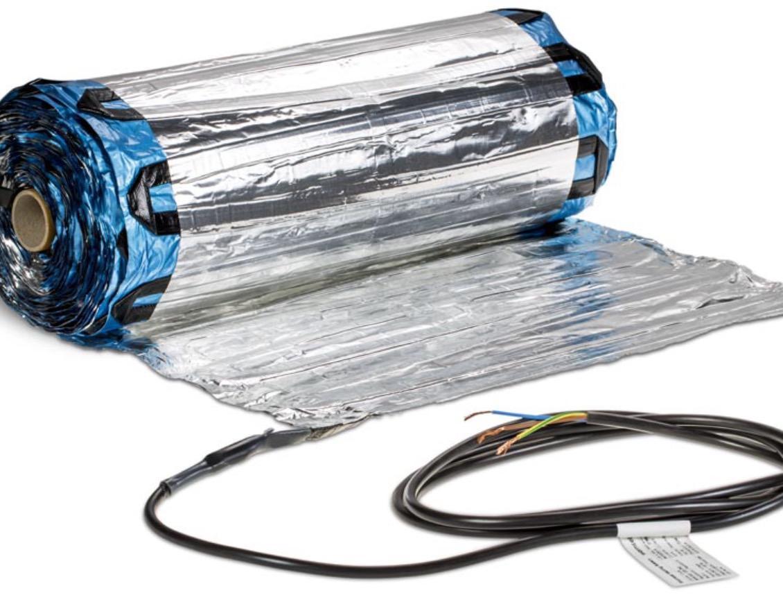 Rete radiante  per riscaldamenti  a pavimento ::   pavimentazioni a secco , moquette   .   Bioediliziaa   P rezzo  € / mq