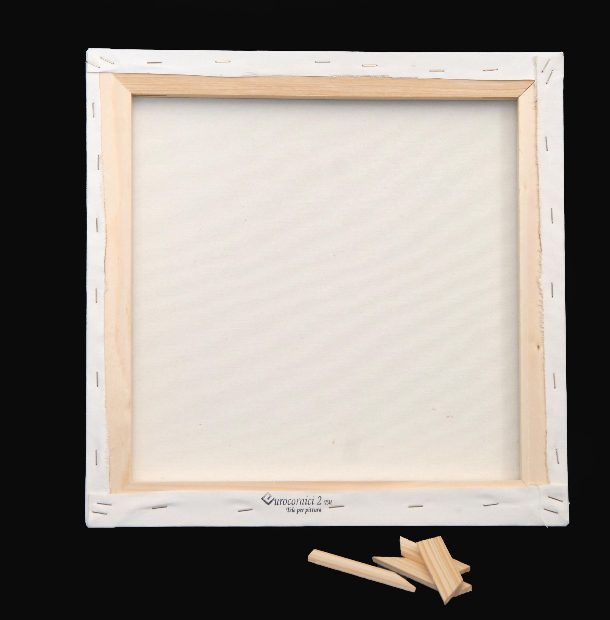 Tele Economiche in Misto Cotone per Dipingere - profilo 2 cm - Telaio Telato Misto Cotone 20mm