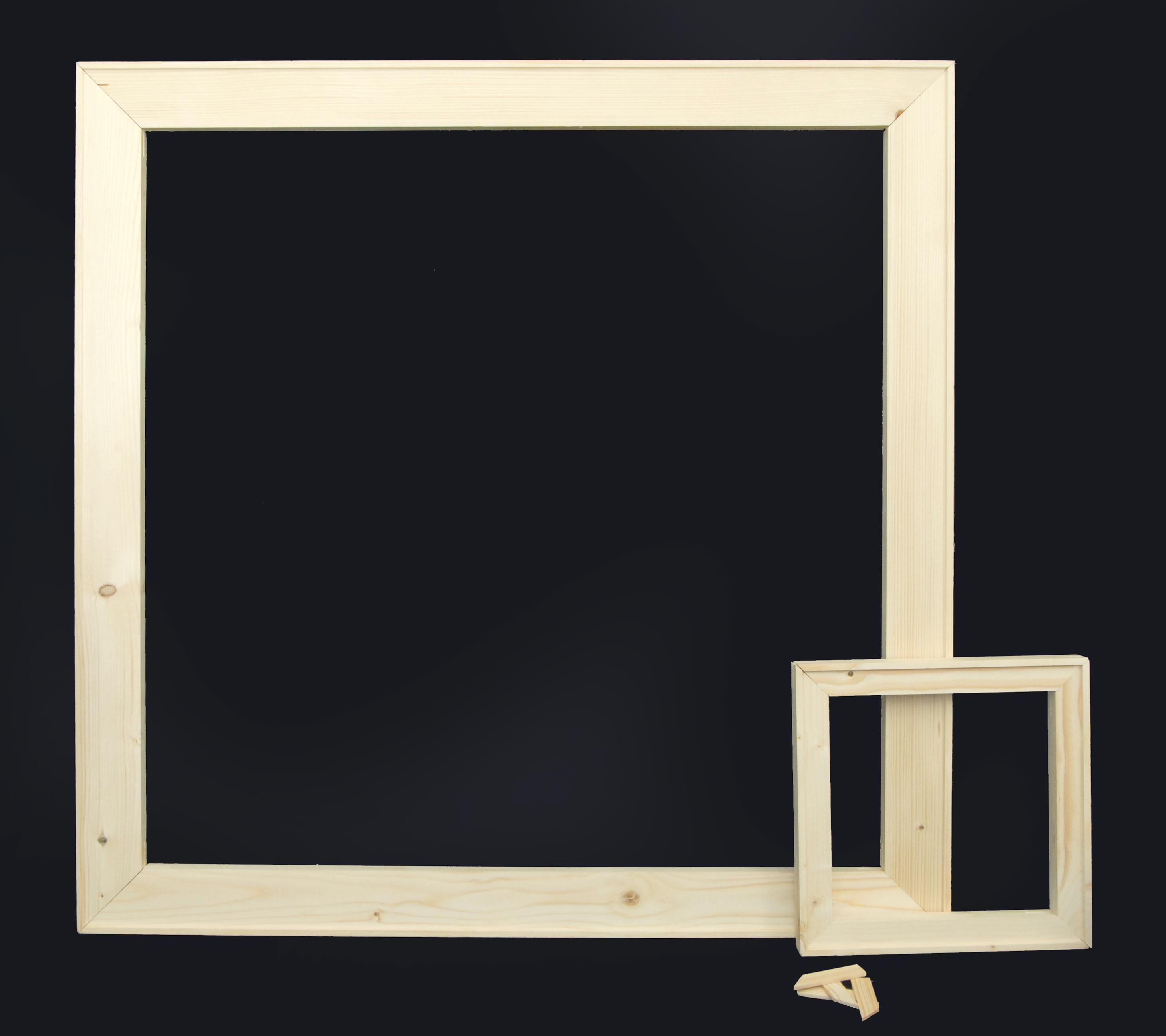 Telai 40mm per tele Stampe - Gallery - 4 cm in legno di abete stagionato  -Telai per stampe su tela