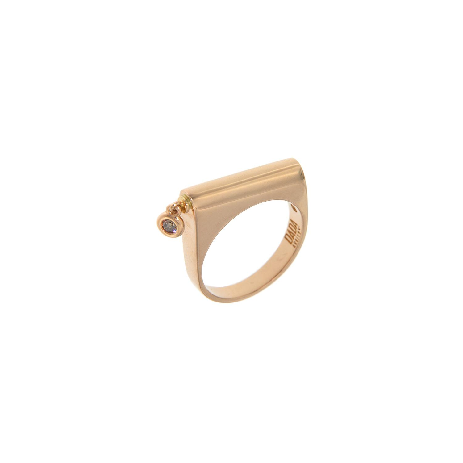 Anello in oro 18k e diamante