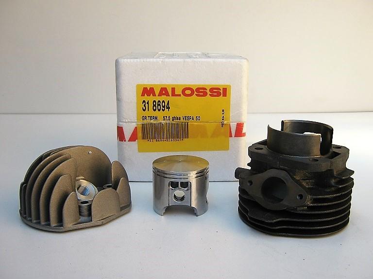 KIT ELABORAZIONE MALOSSI per VESPA 50/APE 50  -  ALESAGGIO  mm. 57.5