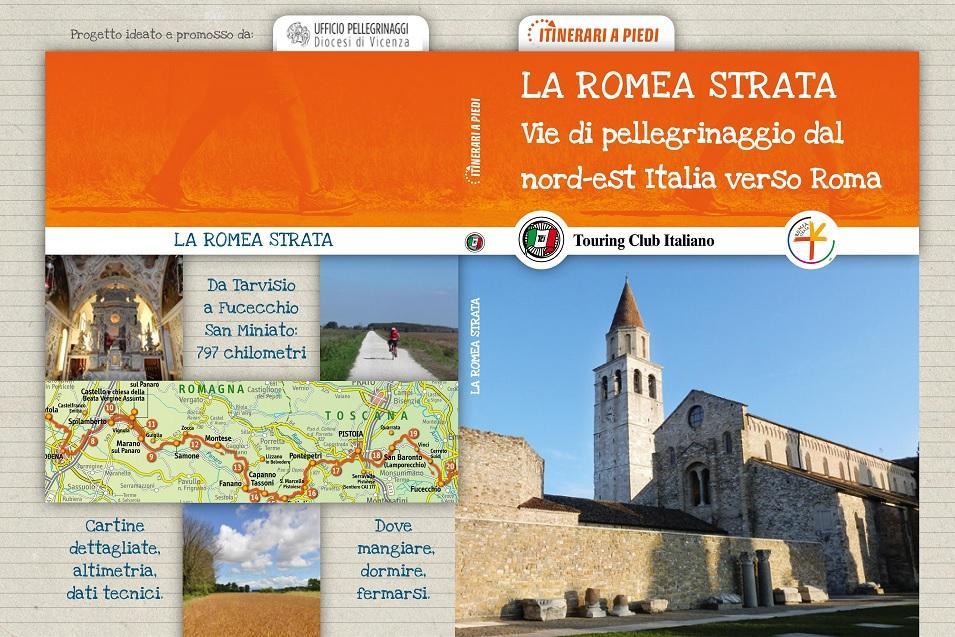 La copertina della guida sulla Romea Strata