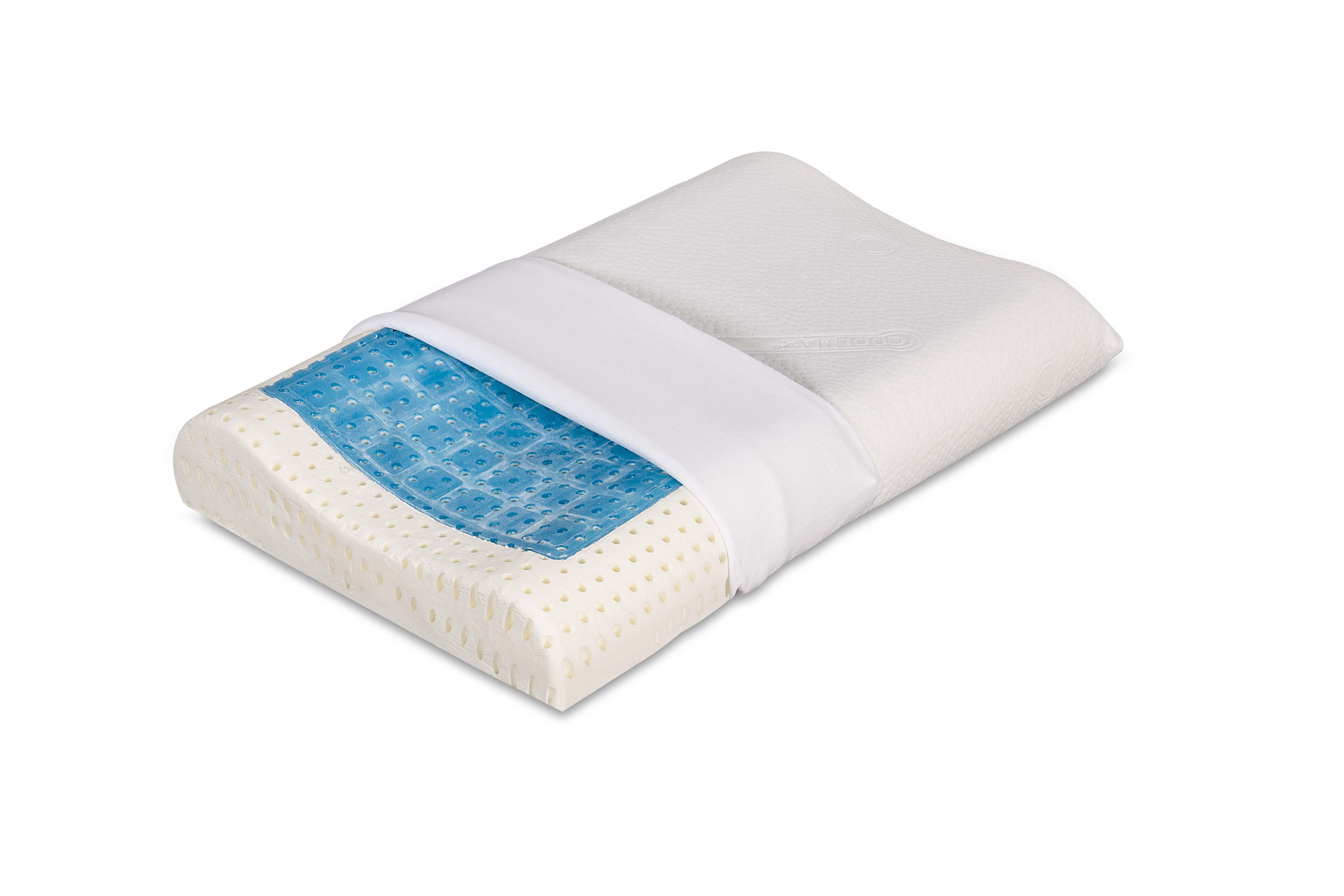 Composizione Memory Foam.Cuscino Cuscino Federa Guanciale Coolmax 70x40 Gel Con Foam