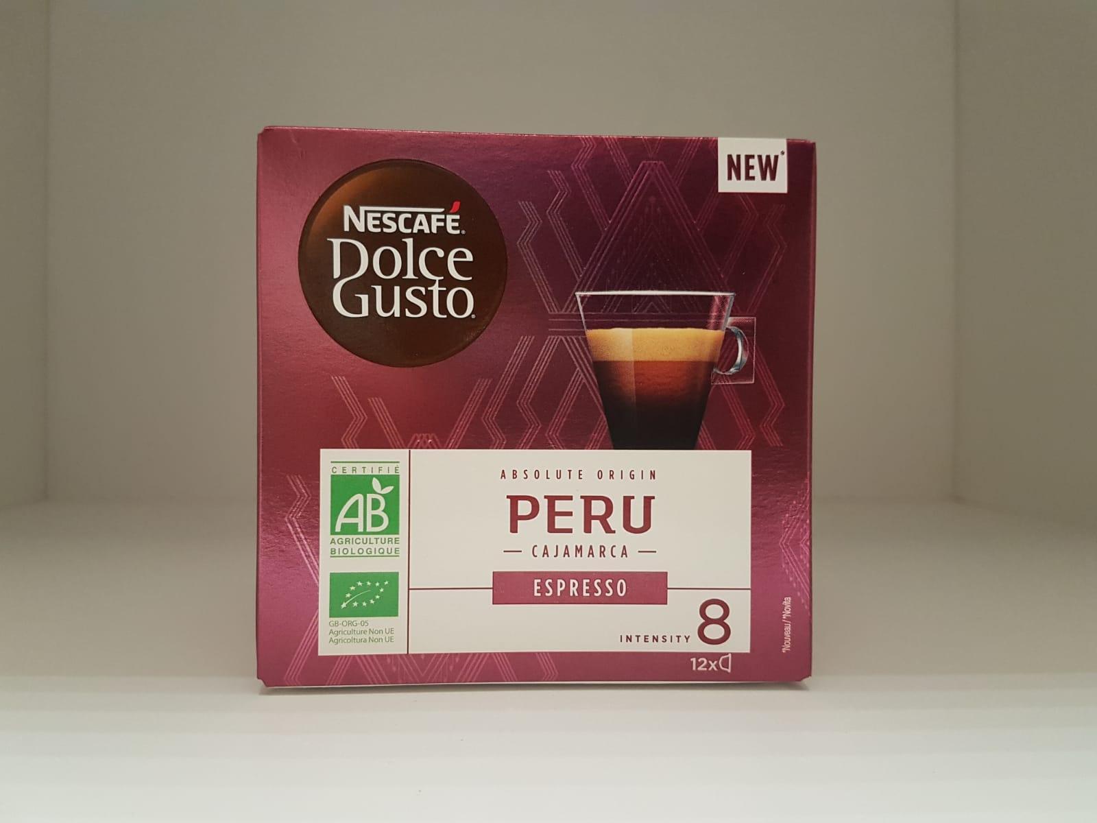 12 Capsule caffè Dolce Gusto - Mono origine PERU'