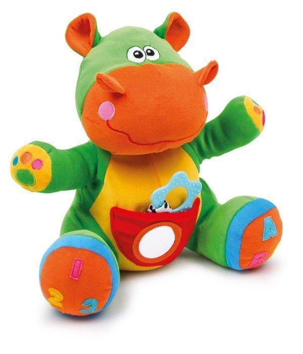 Peluche animale ippopotamo di stoffa per bambino, Nino