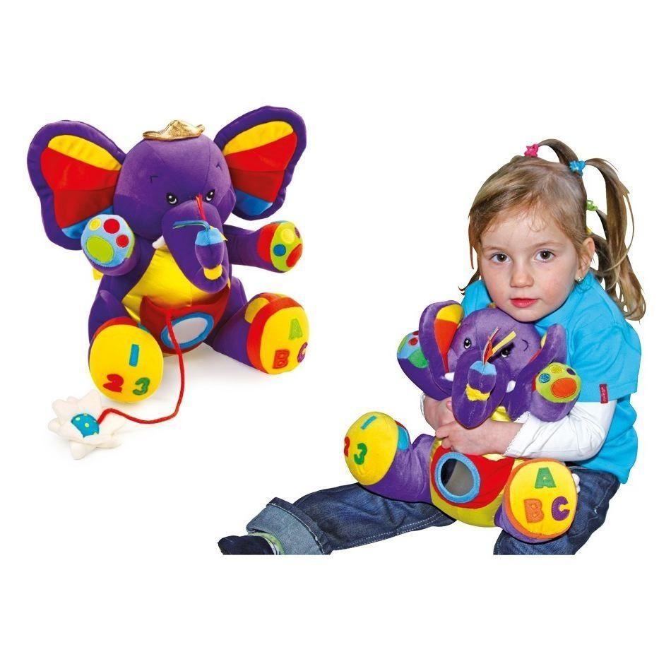 Peluche animale elefante di stoffa per bambino