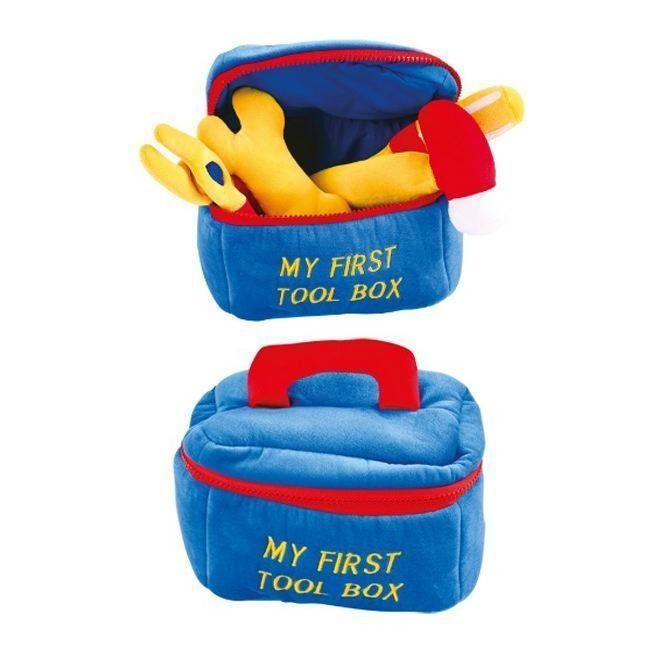 Gioco cassetta deli attrezzi in peluche per bambino