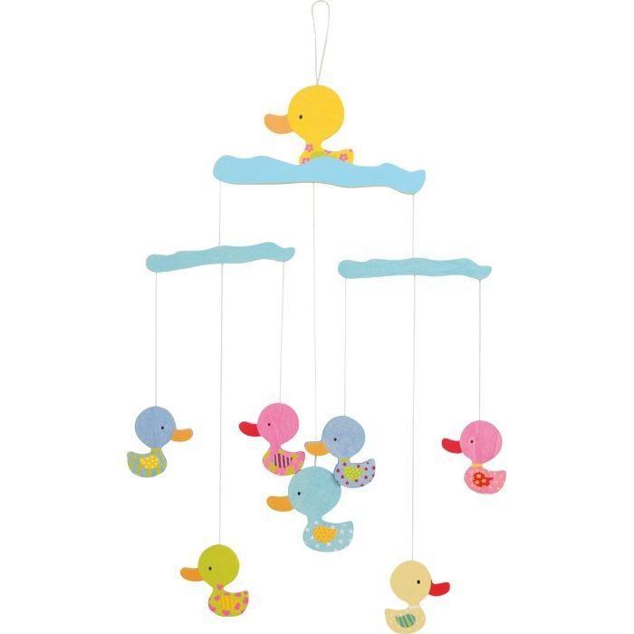 Giostrina Giostra Paperelle in legno arredo cameretta,culla per neonati e bambini