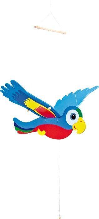 Pappagallo basculante colorato giostrina gioco in legno gioco arredo cameretta