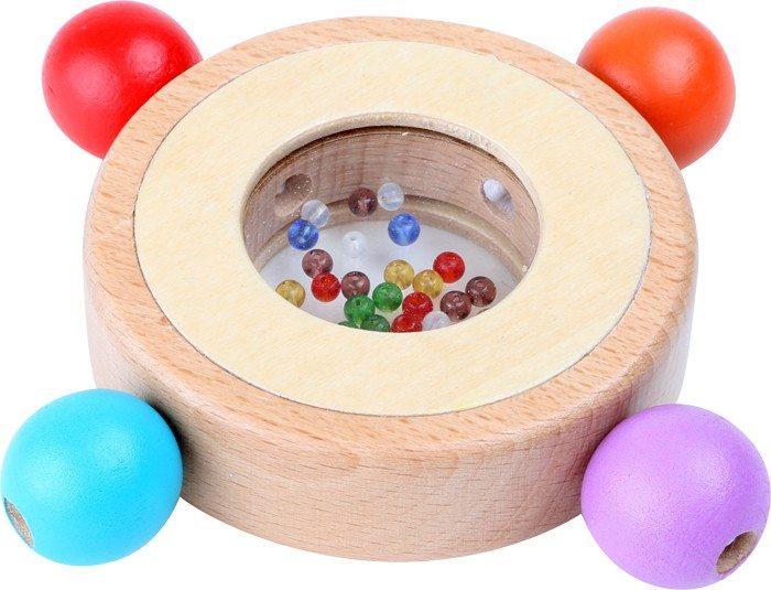 Sonaglio in legno giocattolo tattile per neonato