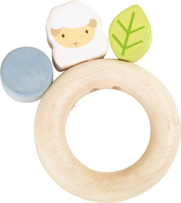 Tattile Agnellino gioco motricità in legno per neonato