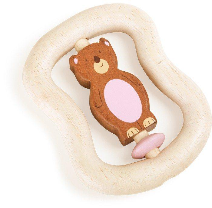 Gioco Tattile in legno per bambini neonato Orsetto