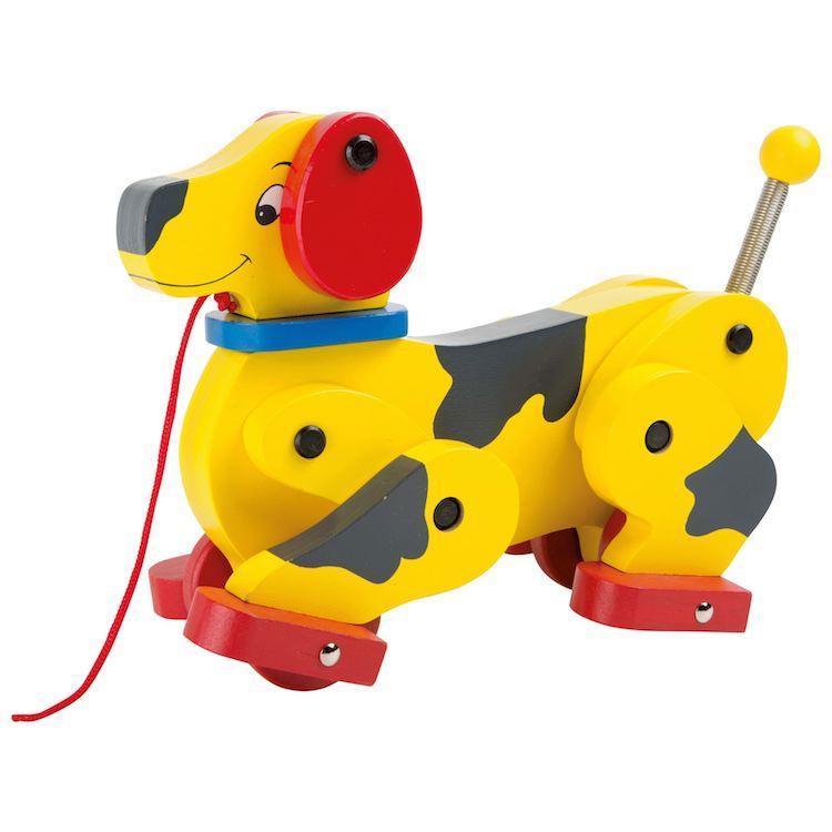 Gioco in legno per bambini Cane da tirare con ruote mod. Bassotto