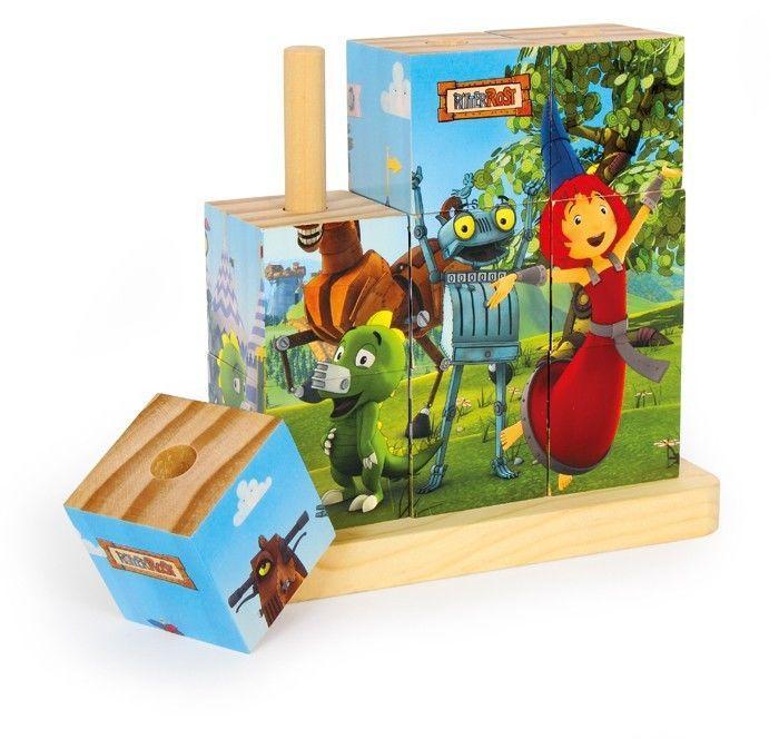 Puzzle Dadi da incastro 4 scene 9 pezzi Gioco x  bambini in legno