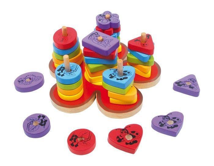 Puzzle fiore in legno gioco motricità bambini Legler 6233