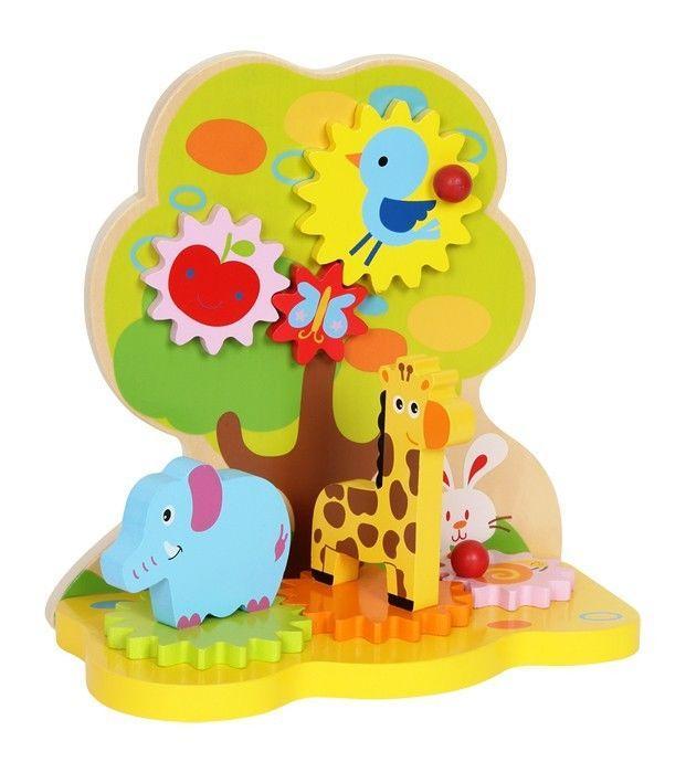 Gioco  x bambini/neonati con animali aiuto motricità bebè in legno