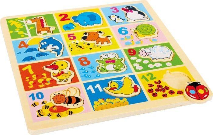 puzzle ad incastro animali dello zoo legno gioco motricità bambino/bambina