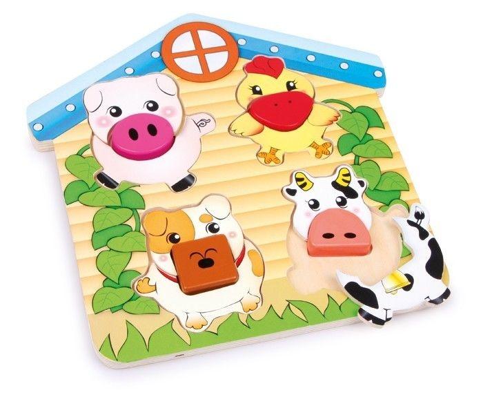 puzzle ad incastro animali in legno Gioco bambino/bambina