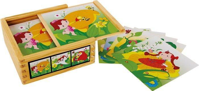 puzzle ad incastro in legno fate e fiori Gioco bambino/bambina