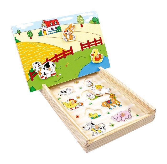 Puzzle magnetico in scatola Fattoria Gioco per bambino/bambina