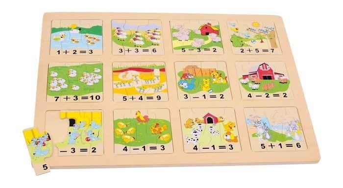 Puzzle in legno conta gli animali Gioco didattico x bambini