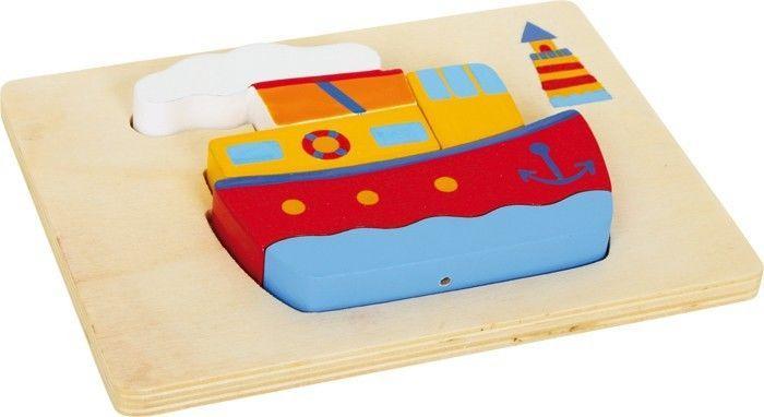 2 Puzzle 3d in legno Navi Gioco x bambino/bambina