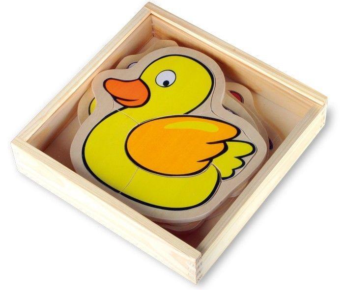Puzzle scatola fattoria in legno gioco/giocatolo x bambino/bambina